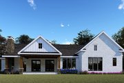 Farmhouse Style House Plan - 3 Beds 2.5 Baths 2073 Sq/Ft Plan #923-154 Exterior - Rear Elevation