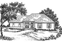 European Exterior - Front Elevation Plan #36-140