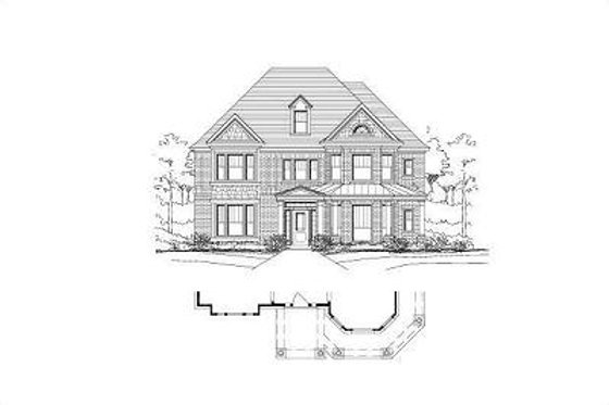 Colonial Exterior - Front Elevation Plan #411-285