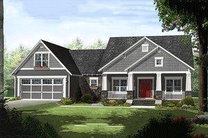 Craftsman Exterior - Front Elevation Plan #21-330