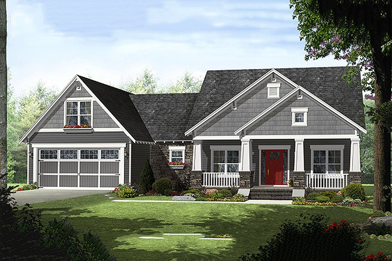 Craftsman Style House Plan - 4 Beds 2.5 Baths 2199 Sq/Ft Plan #21-330