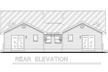 Traditional Exterior - Rear Elevation Plan #18-1031