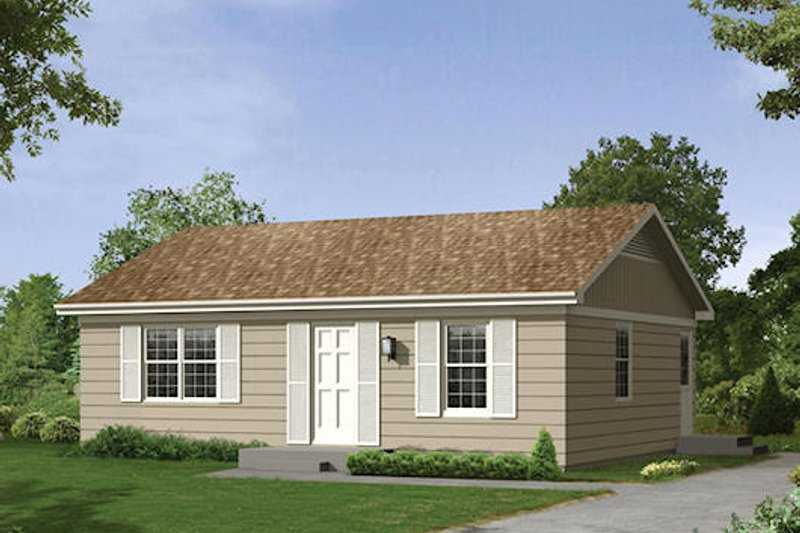 Ranch Style House Plan - 2 Beds 1 Baths 800 Sq/Ft Plan #57-242