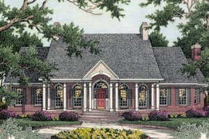 Architectural House Design - Southern Exterior - Front Elevation Plan #406-101