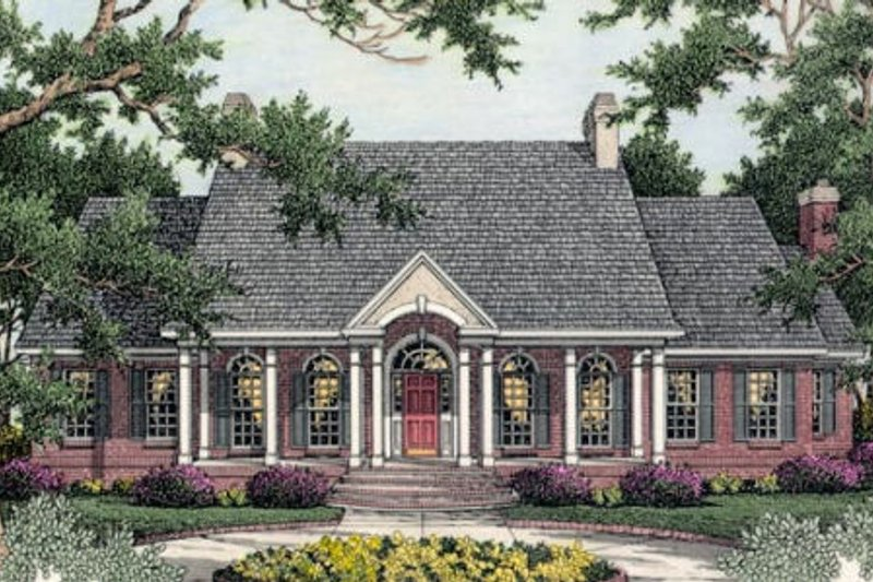 Southern Exterior - Front Elevation Plan #406-101