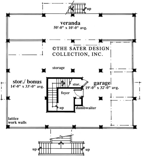 Country Floor Plan - Lower Floor Plan #930-28