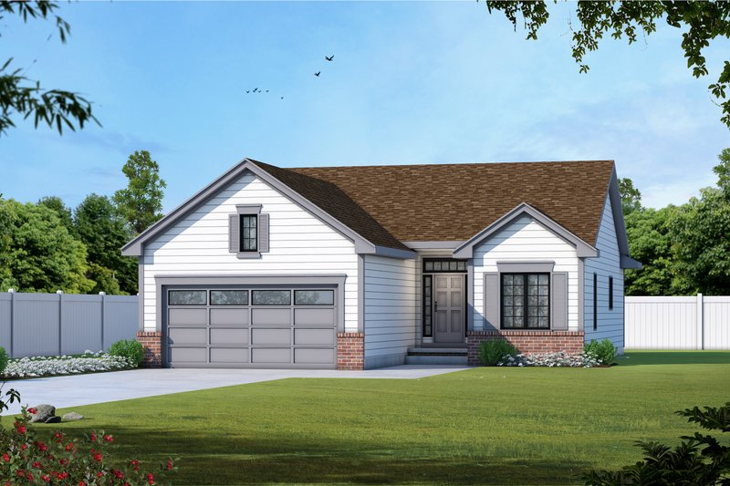 Home Plan - Traditional Exterior - Front Elevation Plan #20-1714