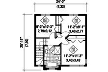 Contemporary Floor Plan - Upper Floor Plan Plan #25-4293