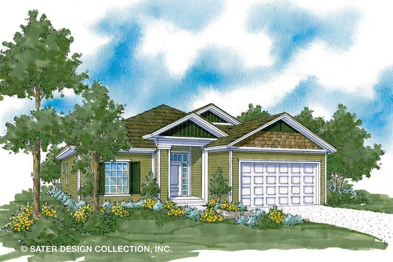 Architectural House Design - Ranch Exterior - Front Elevation Plan #930-484