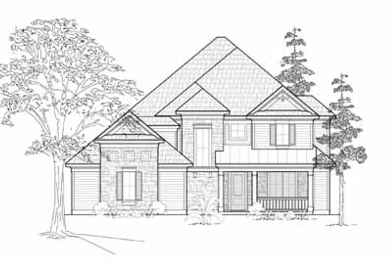Traditional Exterior - Front Elevation Plan #61-215 - Houseplans.com