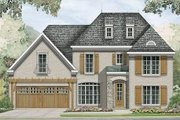European Style House Plan - 4 Beds 2.5 Baths 2293 Sq/Ft Plan #424-211 Exterior - Front Elevation
