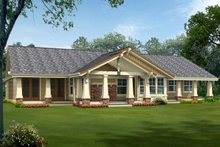 Craftsman Exterior - Rear Elevation Plan #132-201