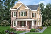 Craftsman Style House Plan - 4 Beds 4 Baths 3616 Sq/Ft Plan #419-285 Exterior - Front Elevation
