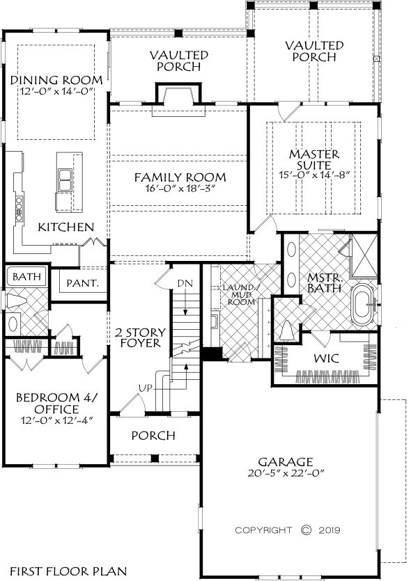 Farmhouse Floor Plan - Main Floor Plan Plan #927-1002