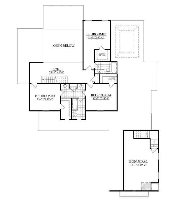 Dream House Plan - Farmhouse Floor Plan - Upper Floor Plan #1071-8