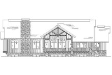 Home Plan - Traditional Exterior - Rear Elevation Plan #5-360