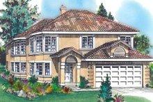 Home Plan - Mediterranean Exterior - Front Elevation Plan #18-222
