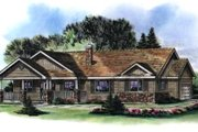Ranch Style House Plan - 3 Beds 2 Baths 1493 Sq/Ft Plan #18-1035 Exterior - Front Elevation