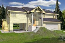 Dream House Plan - Beach Exterior - Front Elevation Plan #117-527