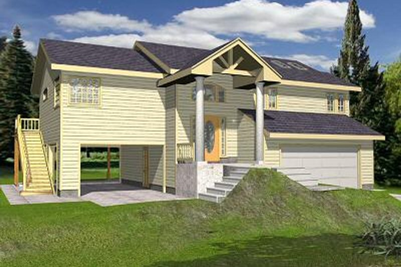 Beach Exterior - Front Elevation Plan #117-527