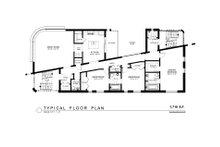 Contemporary Floor Plan - Main Floor Plan Plan #535-22