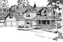Traditional Exterior - Front Elevation Plan #124-153