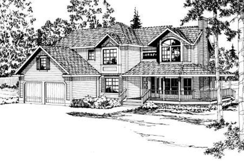 Dream House Plan - Traditional Exterior - Front Elevation Plan #124-153