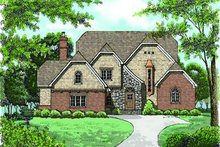 Home Plan - European Exterior - Front Elevation Plan #413-146