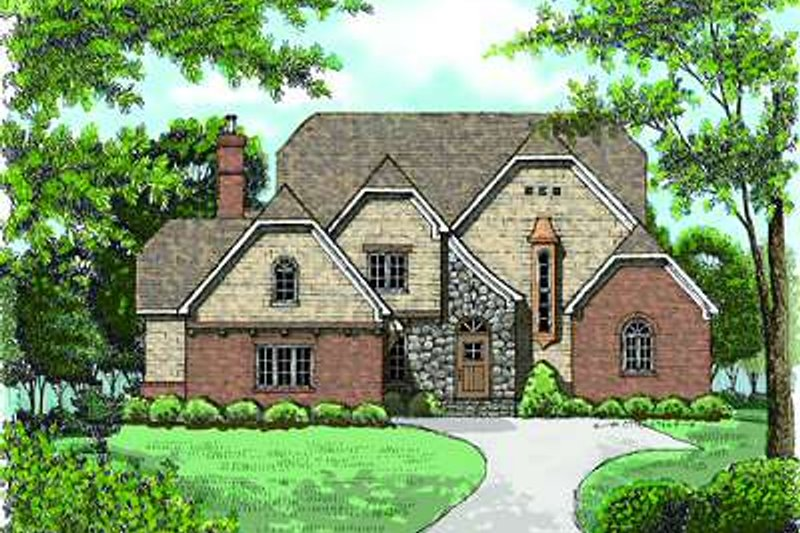 Dream House Plan - European Exterior - Front Elevation Plan #413-146