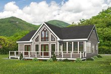 Architectural House Design - Country Exterior - Rear Elevation Plan #932-396