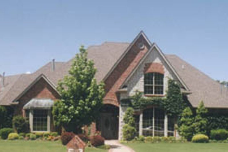 European Style House Plan - 4 Beds 3.5 Baths 3510 Sq/Ft Plan #52-127 Exterior - Front Elevation