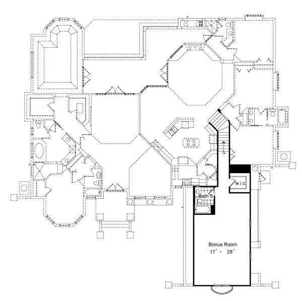 European Floor Plan - Upper Floor Plan Plan #417-419