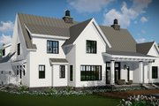 Farmhouse Style House Plan - 4 Beds 3.5 Baths 2528 Sq/Ft Plan #51-1130 Exterior - Other Elevation