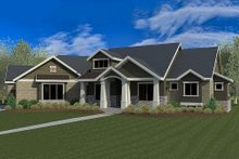 Architectural House Design - Craftsman Exterior - Front Elevation Plan #920-21