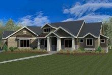 Craftsman Exterior - Front Elevation Plan #920-21