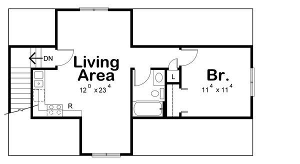House Plan Design - Traditional Floor Plan - Upper Floor Plan #20-2309