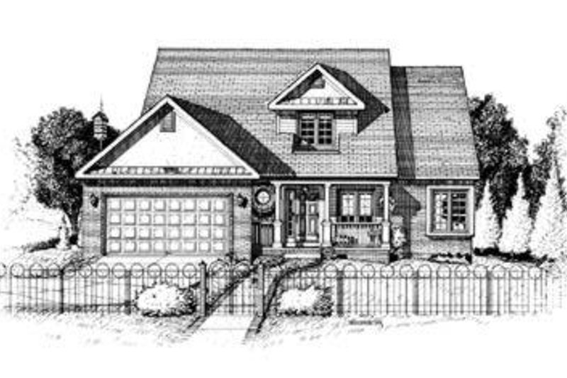 Traditional Exterior - Front Elevation Plan #20-441 - Houseplans.com