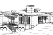 Modern Style House Plan - 3 Beds 2 Baths 1970 Sq/Ft Plan #895-120 Exterior - Other Elevation
