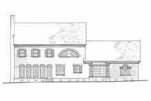 Colonial Exterior - Rear Elevation Plan #137-155