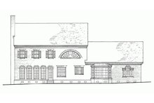 Colonial Exterior - Rear Elevation Plan #137-155