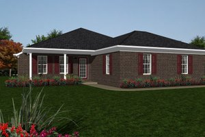 Ranch Exterior - Front Elevation Plan #14-244