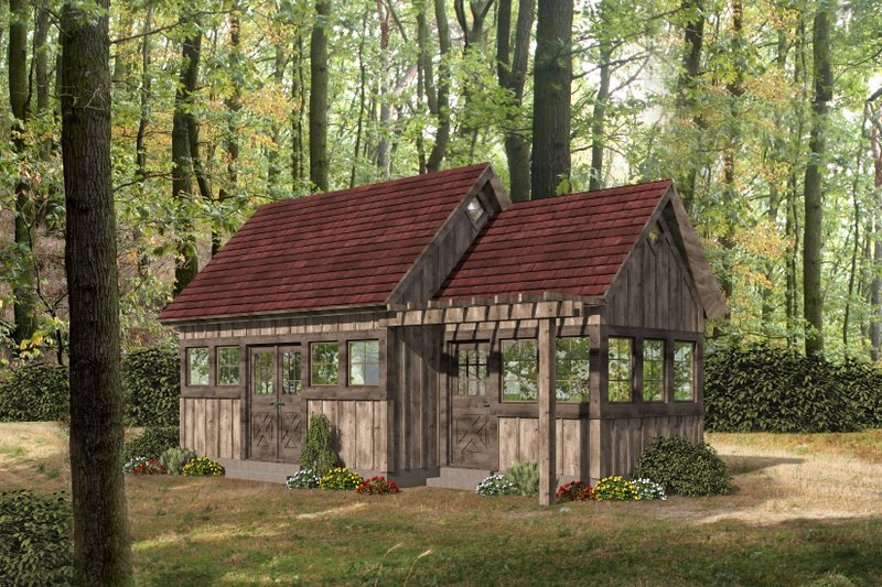 Home Plan - Cabin Exterior - Front Elevation Plan #932-219