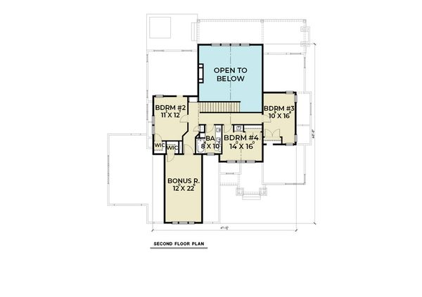 Dream House Plan - Craftsman Floor Plan - Upper Floor Plan #1070-101