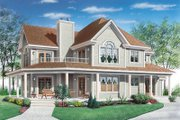 Country Style House Plan - 3 Beds 2.5 Baths 2350 Sq/Ft Plan #23-286 Exterior - Other Elevation