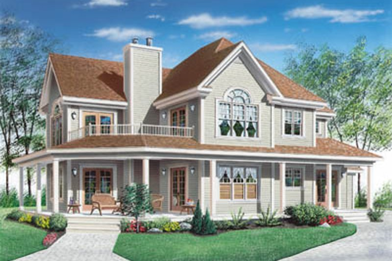 Country Exterior - Other Elevation Plan #23-286 - Houseplans.com
