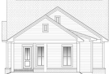 Cottage Exterior - Rear Elevation Plan #430-41