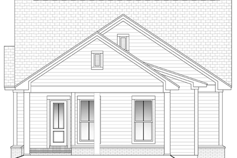 Cottage Exterior - Rear Elevation Plan #430-41 - Houseplans.com