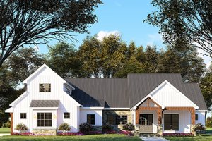 Country Exterior - Front Elevation Plan #923-130
