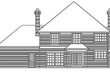 Dream House Plan - Traditional Exterior - Rear Elevation Plan #48-448