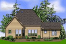 Craftsman Exterior - Rear Elevation Plan #48-372